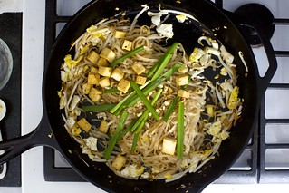 add the tofu back, plus chives