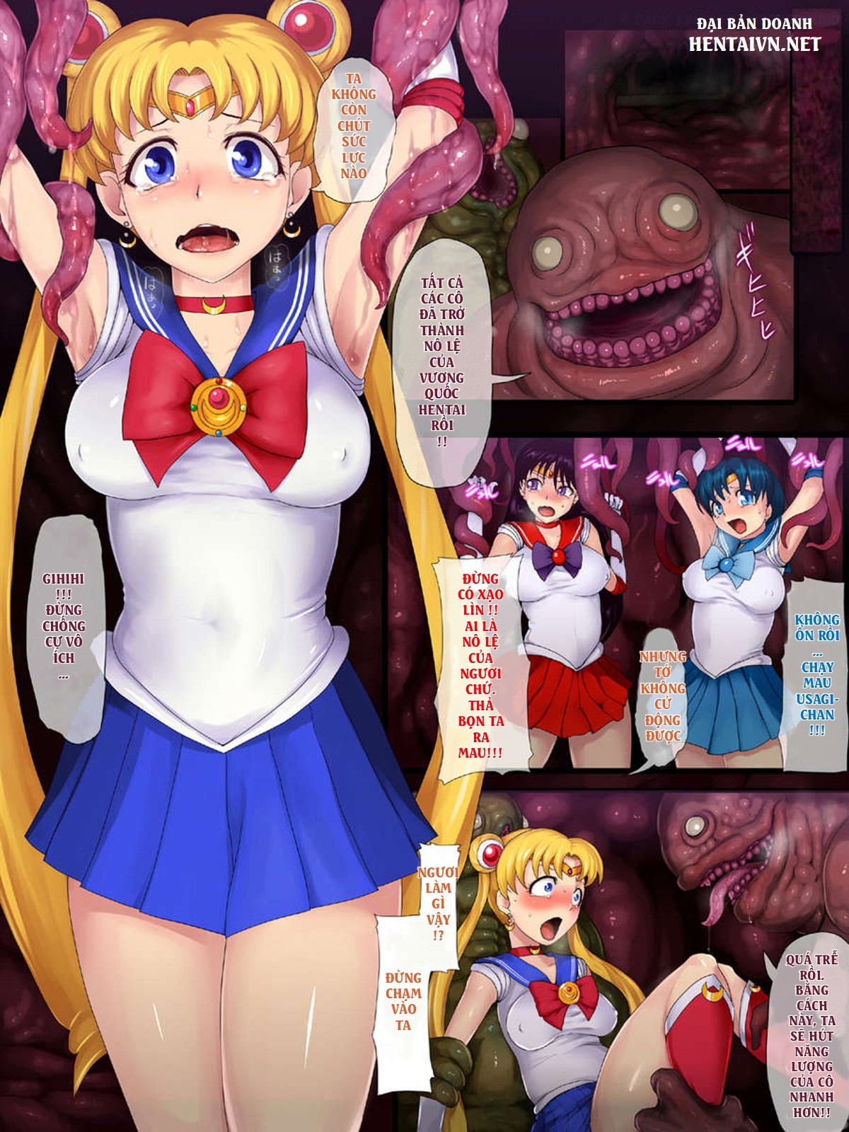 HentaiVN.net - Ảnh 2 - Sailor Senshi Ishu Kan Tettei Ryoujoku - セーラー戦士 異種姦徹底陵辱 - Oneshot