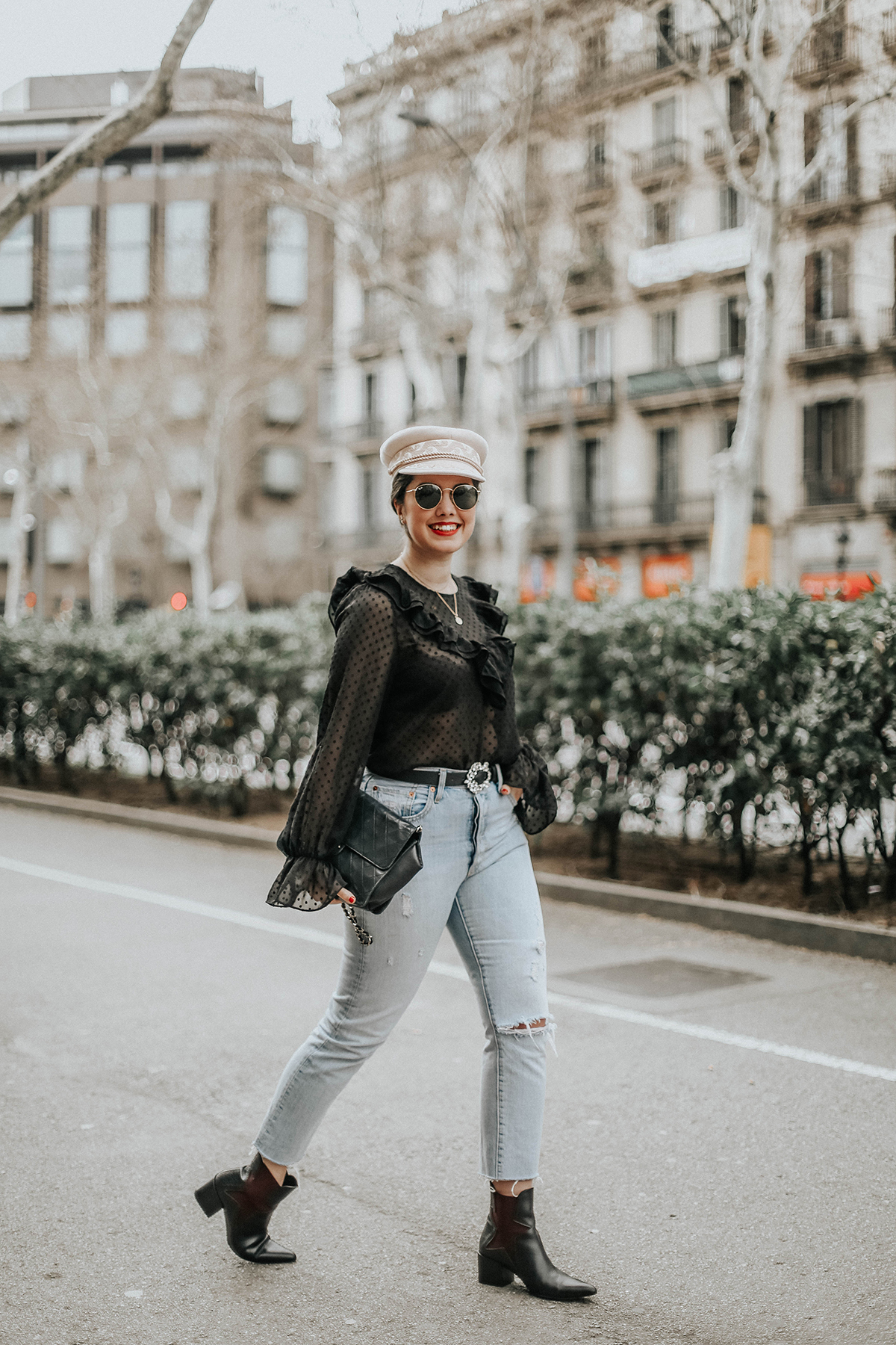 loavies-ruffle-blouse-levis-skinny-501-jeans-amazon-fashion-streetstyle
