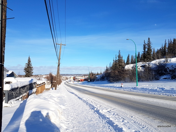 Yellowknife winter roads