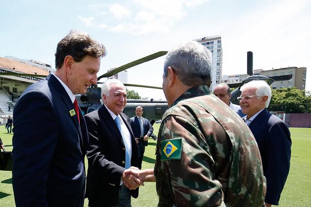 Reunião de trabalho sobre segurança com Michel Temer e o general Walter Souza Braga Netto - Créditos: Alan Santos/PR