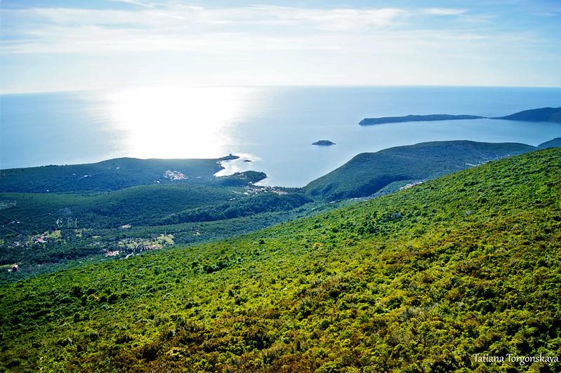 Фрагмент Луштицы и Адриатическое море