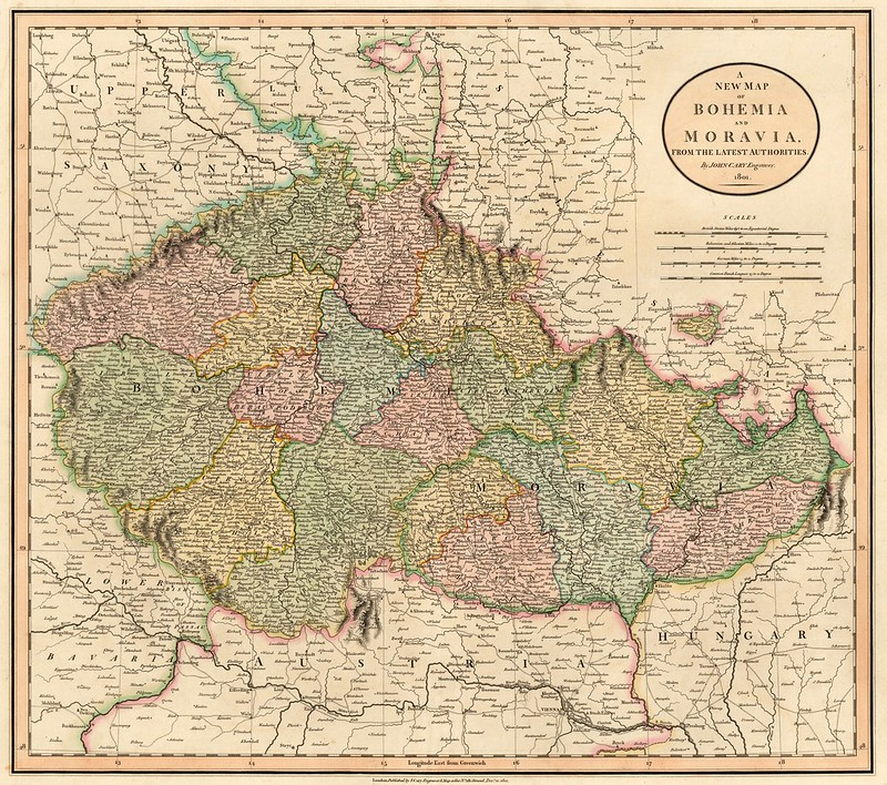 John Cary - A New Map of Bohemia or Moravia, from the Latest Authorities (1801)