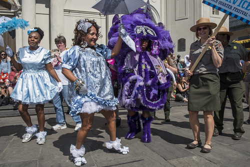 Wild Tchoupitoulas during the opening of French Quarter Fest on April 12, 2018. Photo by Ryan Hodgson-Rigsbee RHRphoto.com