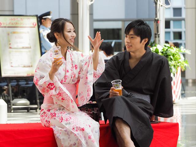 ** Two lovers ?..Osaka Japan