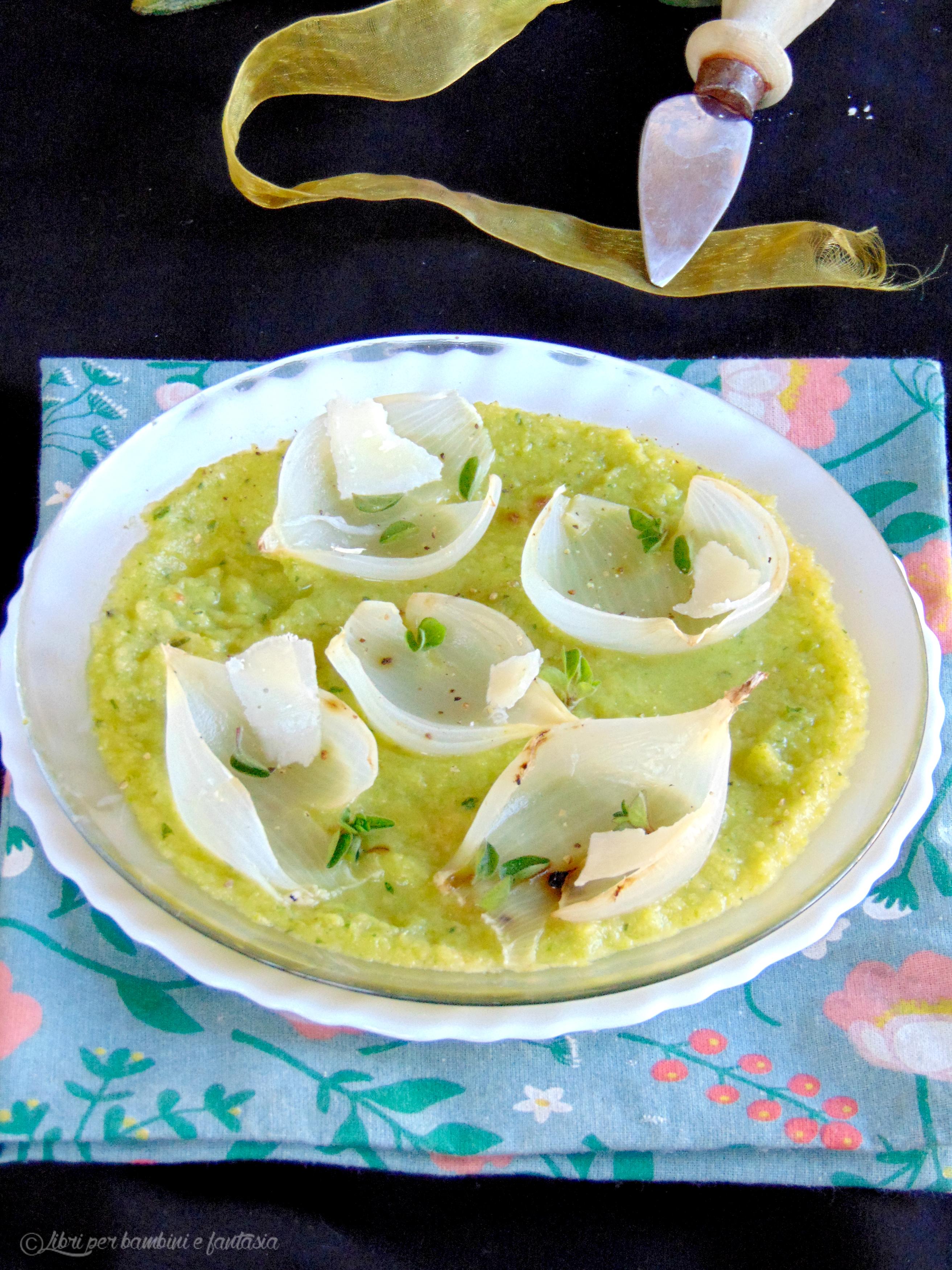 crema di zucchine con cipolle al forno e grana5