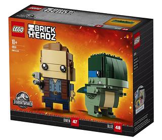 竟然連恐龍也大頭化了~ LEGO 41614 BrickHeadz 系列《侏羅紀世界:殞落國度》歐文&小藍 Owen & Blue