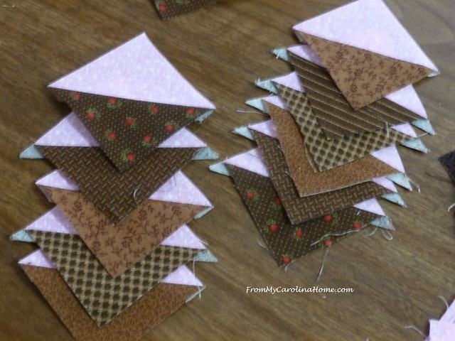Chocolate Cherries Quilt at From My Carolina Home