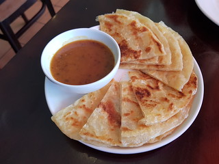 Roti with Peanut Sauce at PingAn Veggie Time