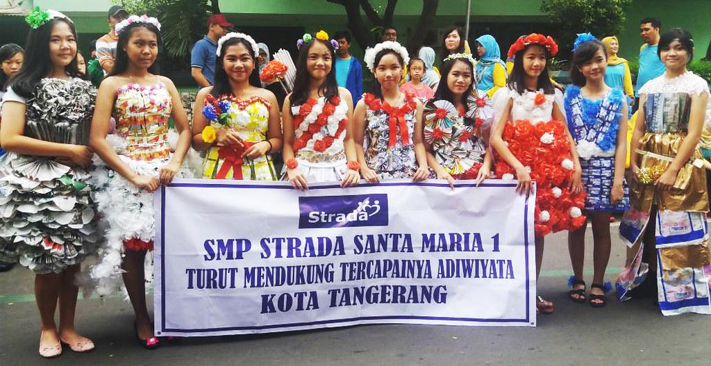 Karnaval Adiwiyata menyambut HUT Kota Tangerang