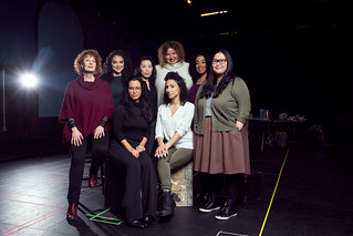 The company of Top Girls with director Liesl Tommy