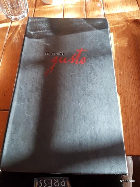 Trattoria Gusto menu cover