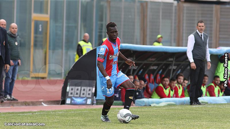 Kalifa Manneh durante una delle innumerevoli presenze in squadra maggiore