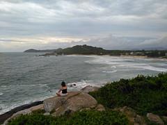 Meditating on Praia Ferrugem