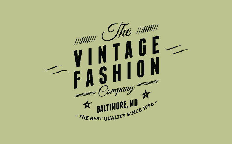 Retro logo PSD format for Photoshop