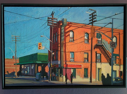 Parkdale, Queen Street West 2010 #toronto #tdgallery #brianharvey #queenstreetwest #parkdale #painting #torontorevealed #torontoreferencelibrary #latergram