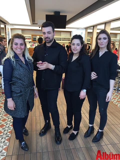 Ünlü makyaj artisti Serhat Şen'den Hüsnü Yüksel Kuaför ekibi eğiitim aldı
