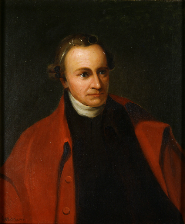 Painting of Patrick Henry, circa 1891, by George Bagby Matthews (1857 - 1943), after Thomas Sully (1783-1872).