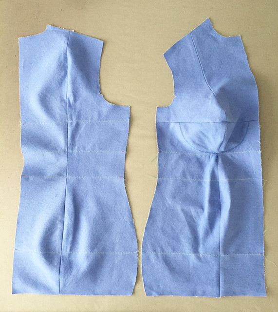 sewn together dress form pieces