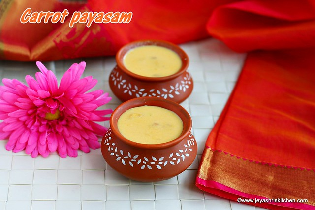 Carrot-payasam with jaggery