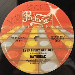 DAYBREAK:EVERYBODY GET OFF(LABEL SIDE-A)