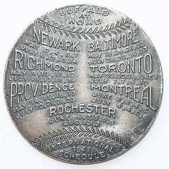 1917 Baseball Schedule Token rev