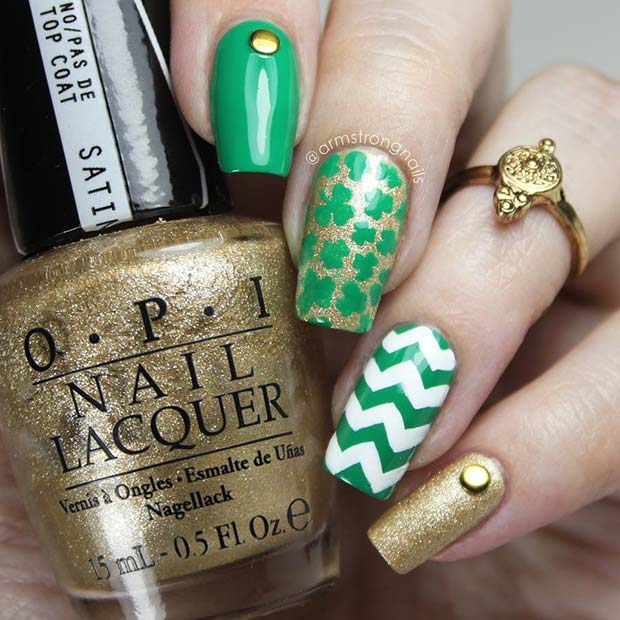 21 Cool and Trendy St Patrick\'s Day nail ideas - Nails C