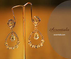 Clear Swarovski Crystal Droplet Earrings