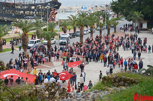 Türk Eğitim Sen Alanya Temsilciliği 18 Mart Çanakkale Zaferi Anısına Şehitlere Saygı Yürüyüşü -4