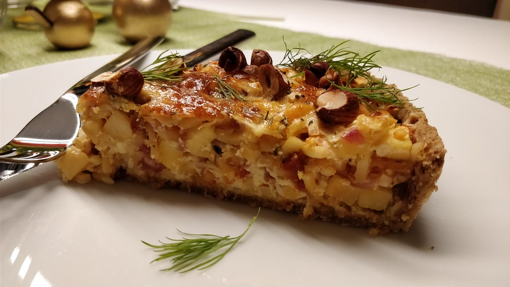 Pastinaken-Chorizo-Quiche