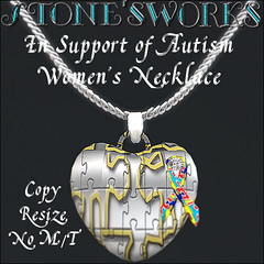Women's Autism Necklace Stone's Works_texture