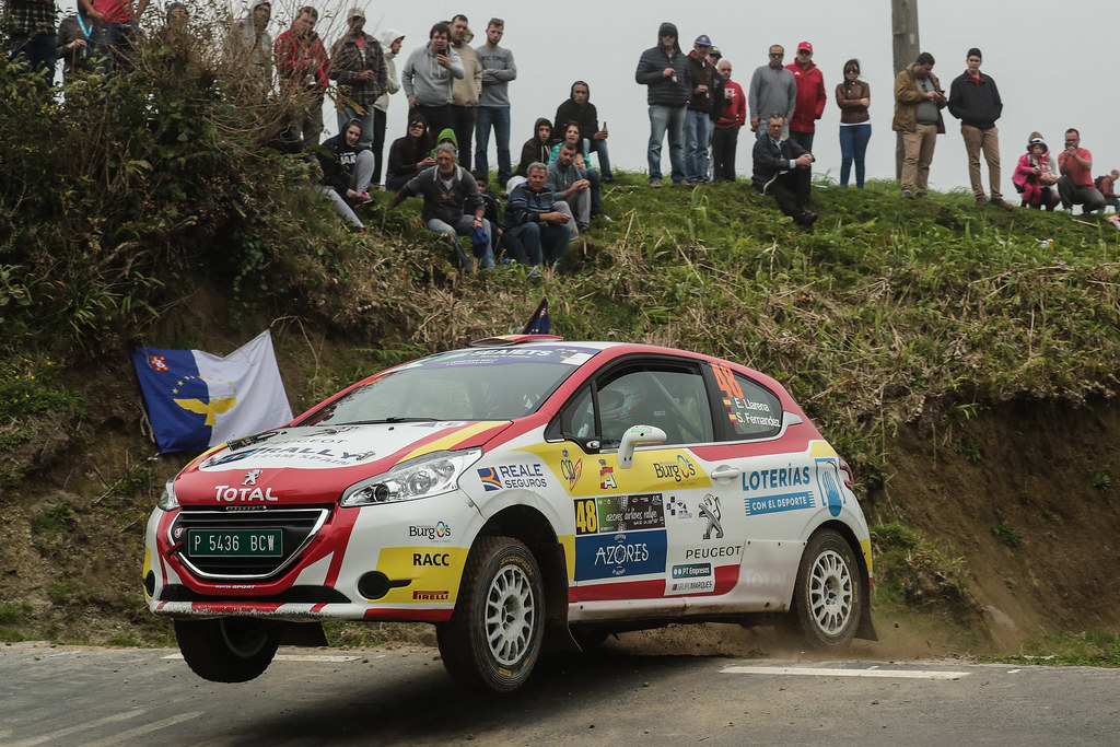 48 LLARENA Efren (esp), FERNANDEZ Sara (esp), Team rallye spain , Peugeot 208 R2, action during the 2018 European Rally Championship ERC Azores rally,  from March 22 to 24, at Ponta Delgada Portugal - Photo DPPI