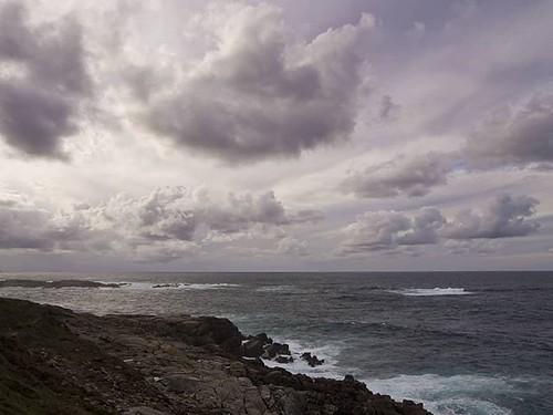 Nubes sobre el océano. #cottonclouds #clouds #ocean #Coruña #olympusomd #olympus