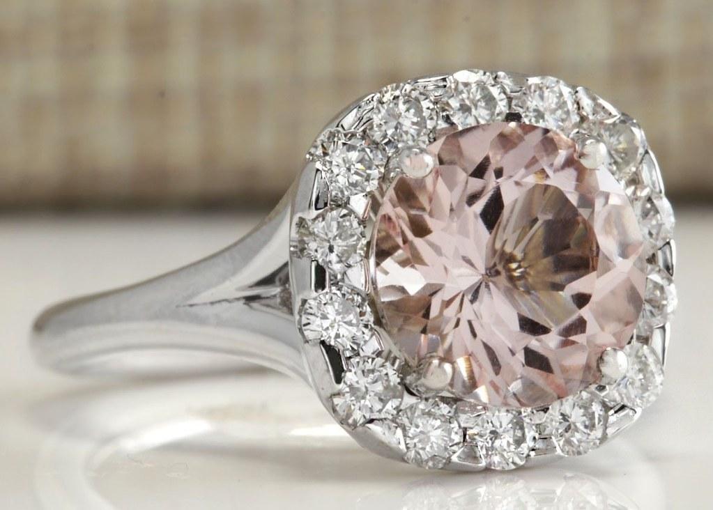 Cool Women 925 Silver Morganite Gemstone Ring Engagement Wedding Jewelry 6-10