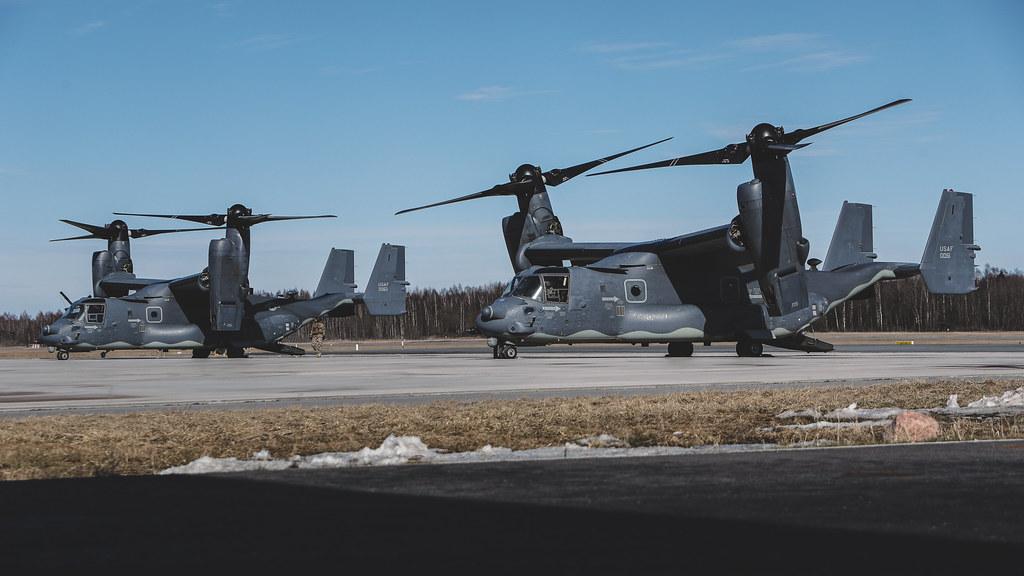 """Latvijā ierodas ASV gaisa kuģi """"CV-22 Osprey"""""""