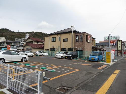 福島競馬場の国道4号線沿いのコインパーキング