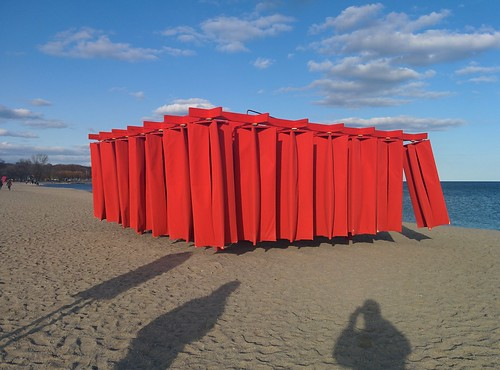 Obstacle (1) #toronto #winterstations #beaches #woodbinebeach #obstacle #publicart #latergram