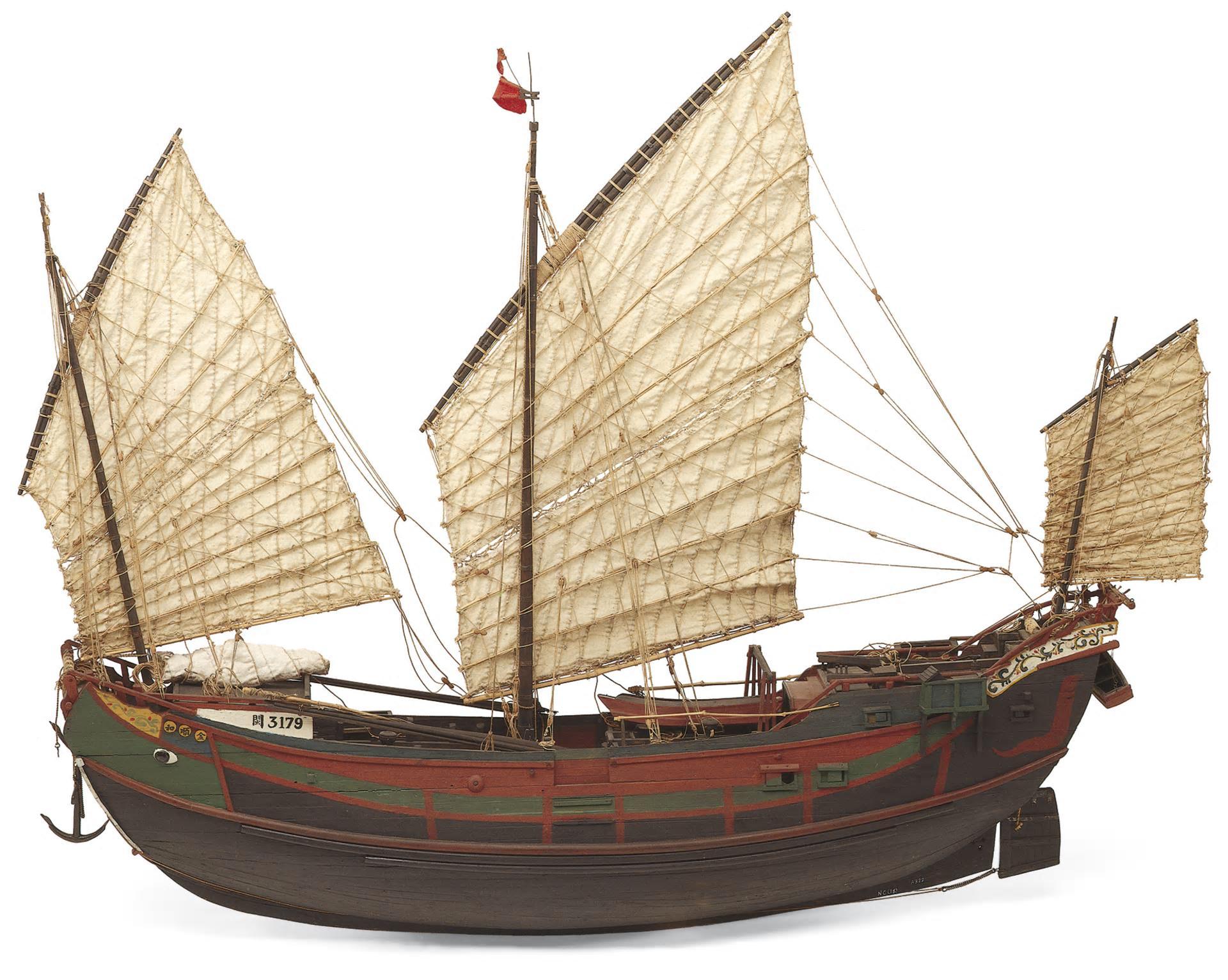 Model of a junk.