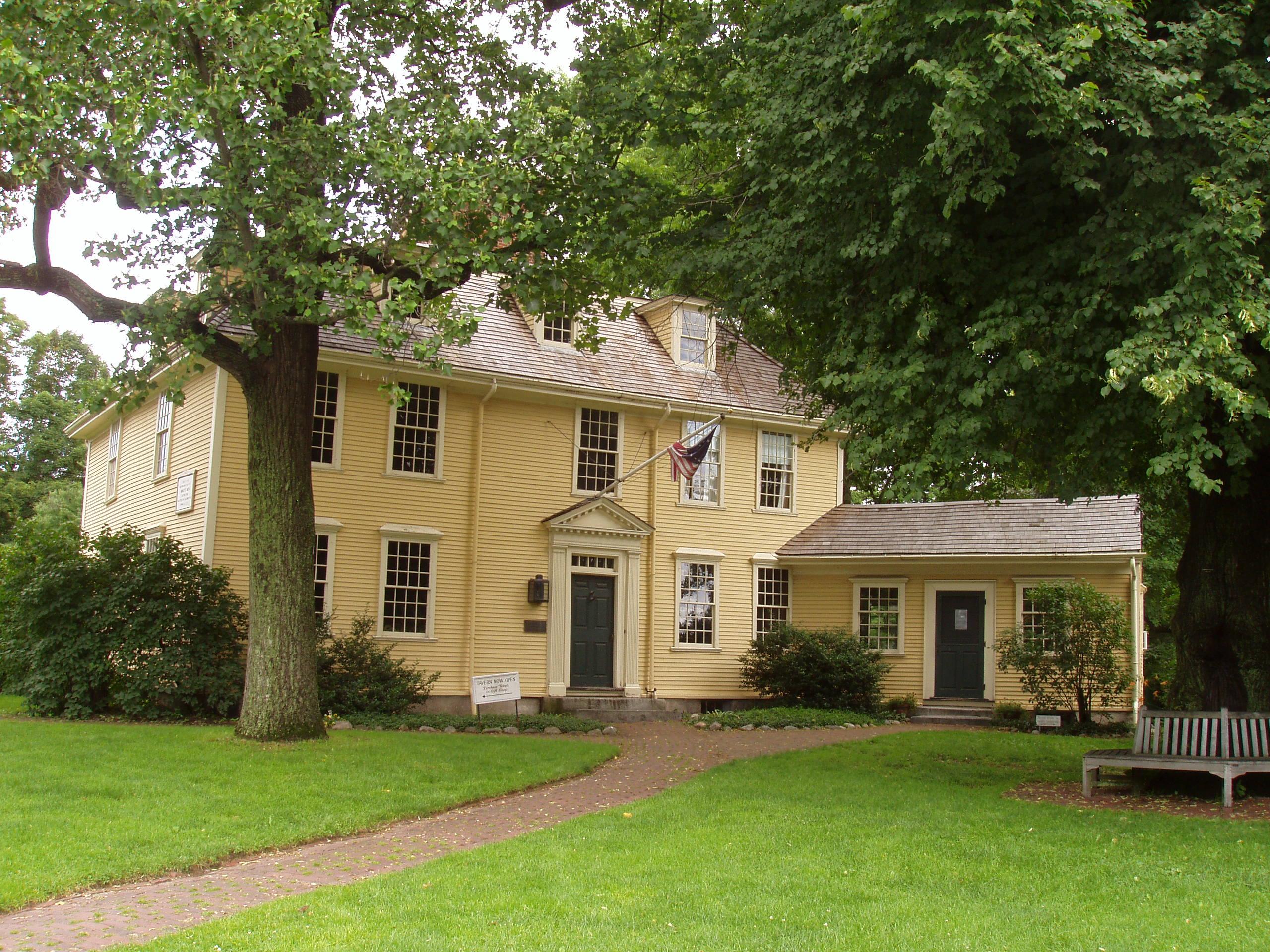 Buckman Tavern, Lexington, Massachusetts. Photo taken on July 9, 2005.
