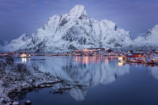 Olstind Winter Reflection