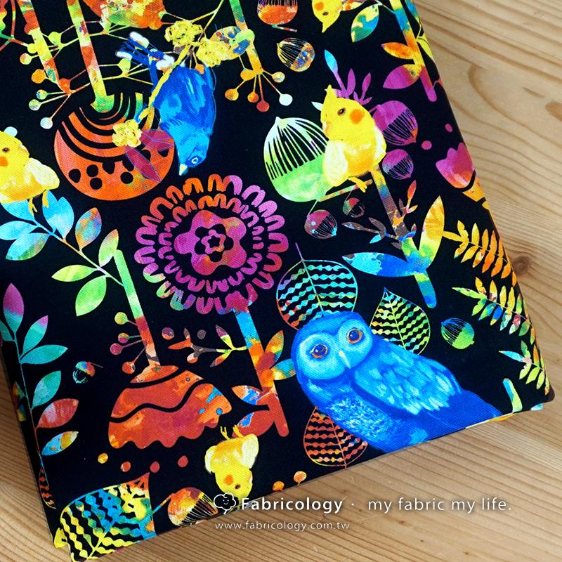 布學盒裝印花布(1y)夢鳥兒 手工藝DIy拼布布料 SW001803-13