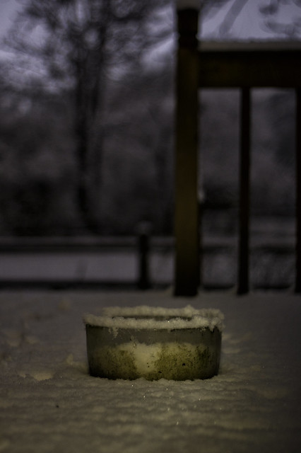 April 02 - A dirty bowl for snow