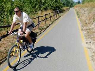 Cyclist on the go