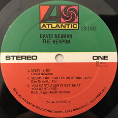 DAVID NEWMAN:THE WEAPON(LABEL SIDE-A)