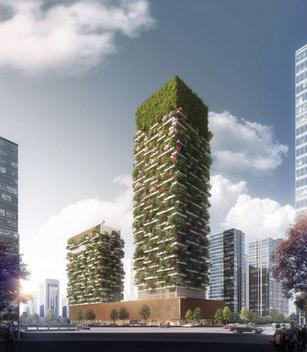 taman vertikal di china