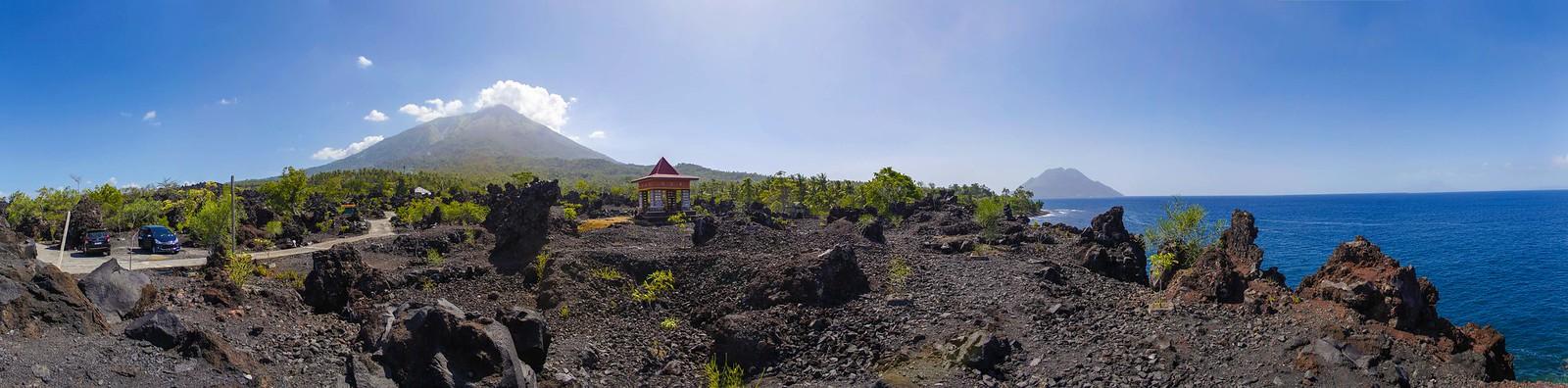 Vista del volcán Gamalama
