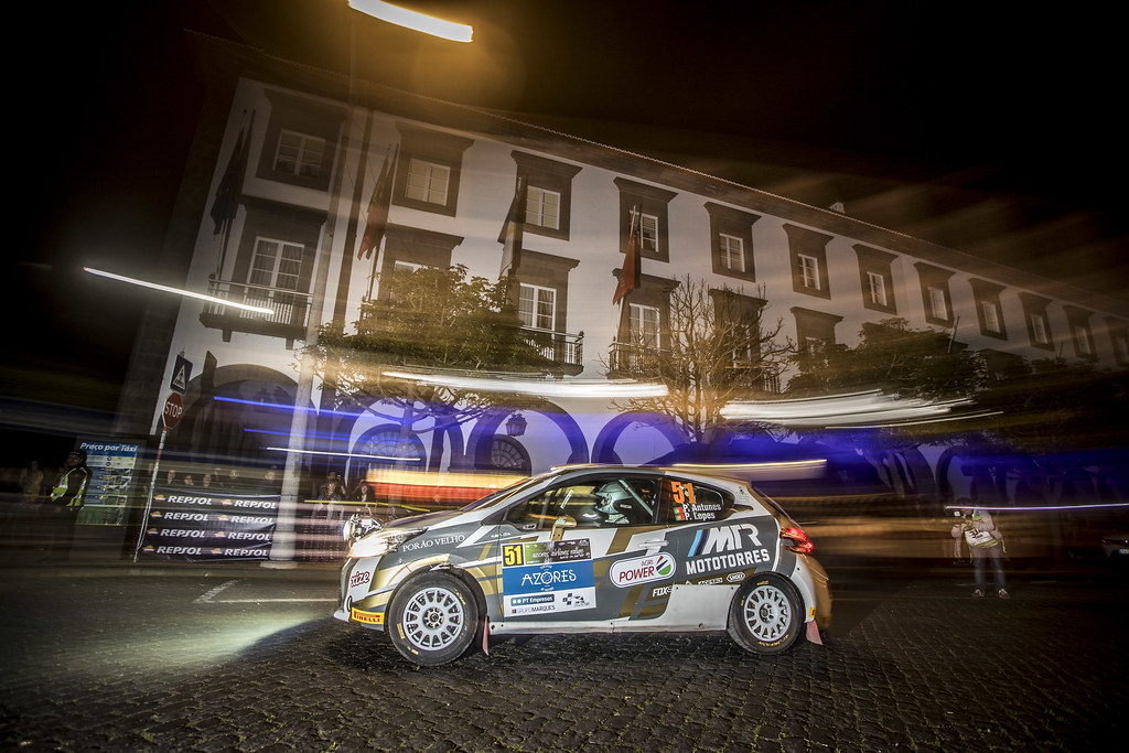51 ANTUNES Pedro (prt), LOPES (prt), Peugeot 208 R2, action during the 2018 European Rally Championship ERC Azores rally,  from March 22 to 24, at Ponta Delgada Portugal - Photo Gregory Lenormand / DPPI
