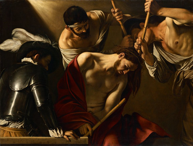 Caravaggio - The Crowning with Thorns (1602)