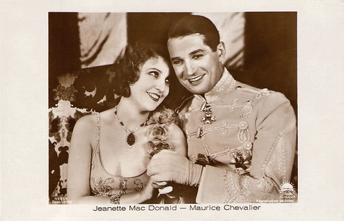 Jeanette MacDonald and Maurice Chevalier in The Love Parade (1929)
