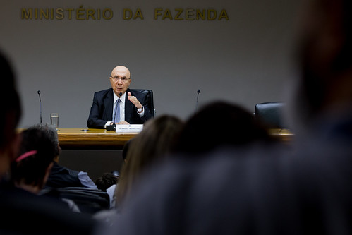 06/04/2018 Ministro Henrique Meirelles concede entrevista coletiva